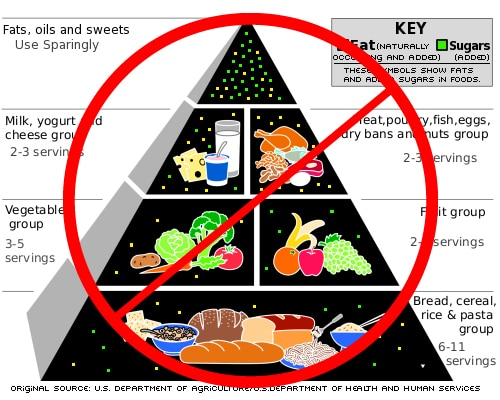The original food pyramid, with its emphasis on grains and carbs, is opposite of what we really need to lose weight and live healthy.
